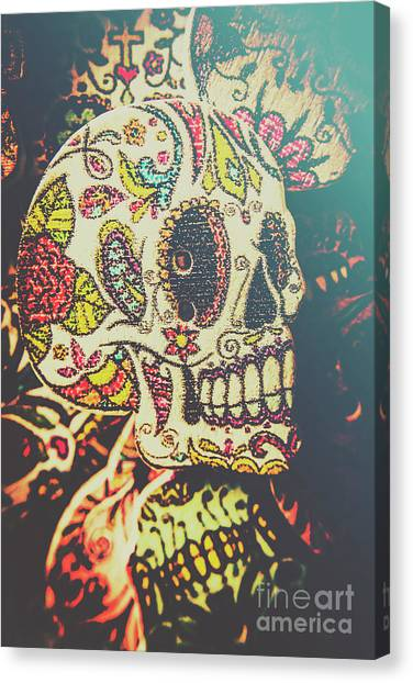 Skeletons Canvas Print - Ghoul Of Gothic Glam  by Jorgo Photography - Wall Art Gallery
