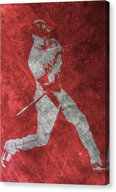 Miami Marlins Canvas Print - Giancarlo Stanton Miami Marlins Art by Joe Hamilton
