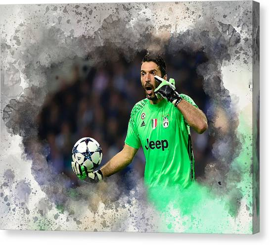 Gianluigi Buffon Canvas Print - Gianluigi Buffon by Karl Knox Images