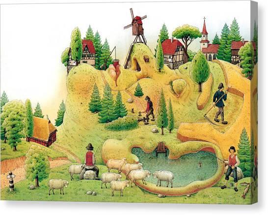 Giant Landscape Canvas Print by Kestutis Kasparavicius