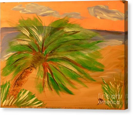 Giant Palm Tree Canvas Print by Marie Bulger