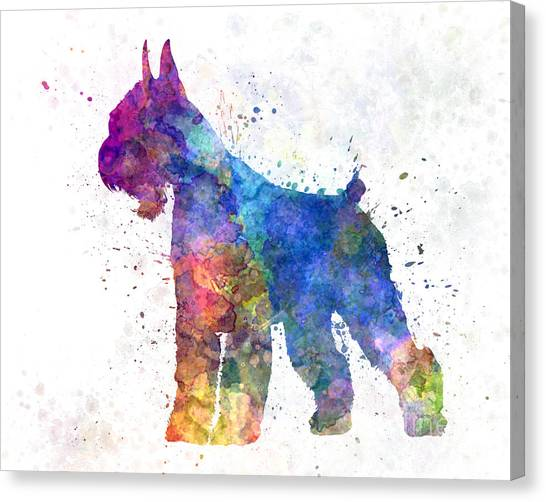 Schnauzers Canvas Print - Giant Schnauzer 01in Watercolor by Pablo Romero
