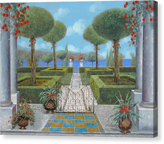 Pathways Canvas Print - Giardino Italiano by Guido Borelli