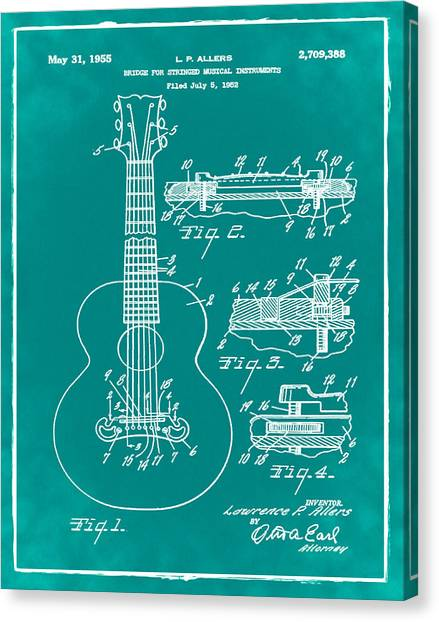 Guitar Patent Canvas Prints Page 9 Of 13 Fine Art America