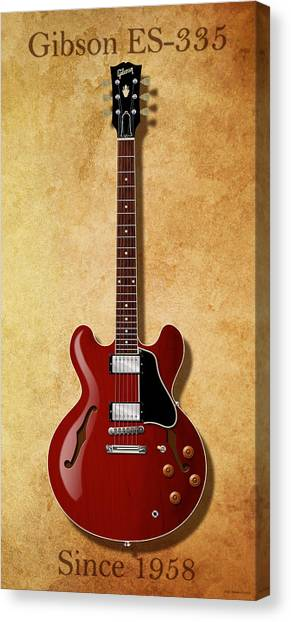 Gibson Es-335 Since 1958 Canvas Print