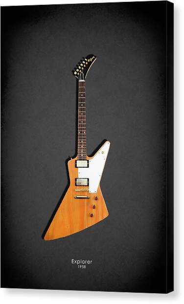 Guitar Canvas Print - Gibson Explorer 1958 by Mark Rogan