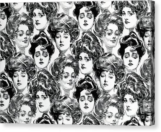 Bachelor Canvas Print - Gibson Girl  Design For Wallpaper by Charles Dana Gibson