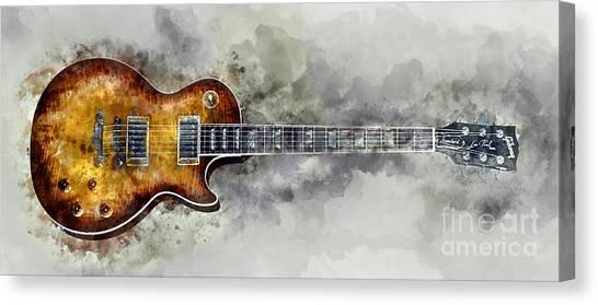 Mandolins Canvas Print - Gibson Les Paul  by Jon Neidert
