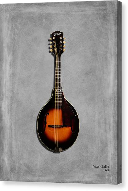 Mandolins Canvas Print - Gibson Mandolin 43 by Mark Rogan