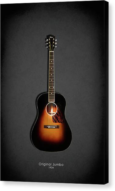 Acoustic Guitars Canvas Print - Gibson Original Jumbo 1934 by Mark Rogan