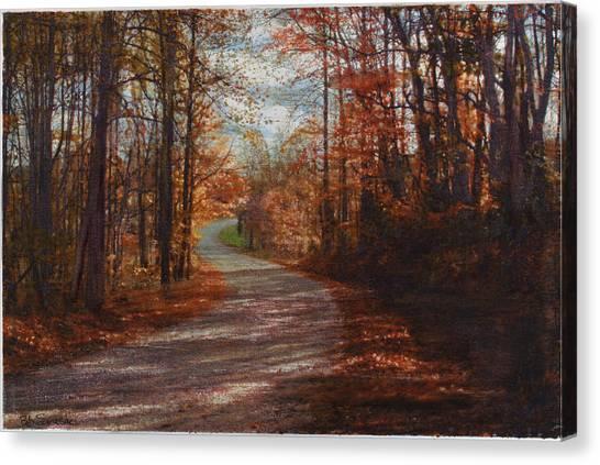 Gibson Ridge Road Canvas Print