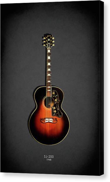 Fender Guitars Canvas Print - Gibson Sj-200 1948 by Mark Rogan