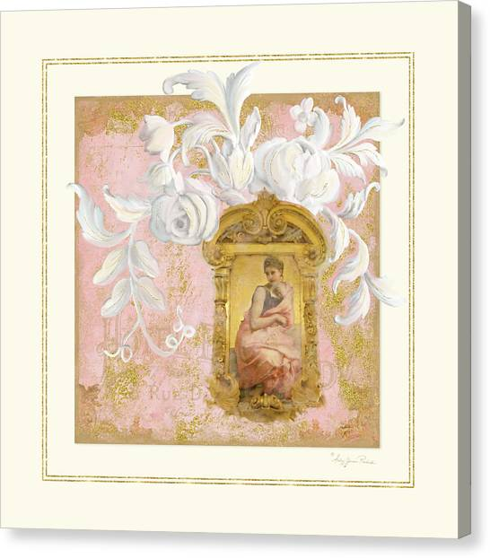 Rococo Art Canvas Print - Gilded Age II - Baroque Rococo Palace Ceiling Inspired by Audrey Jeanne Roberts
