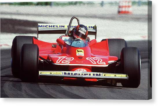 Gilles Villeneuve, Ferrari Legend - 01 Canvas Print