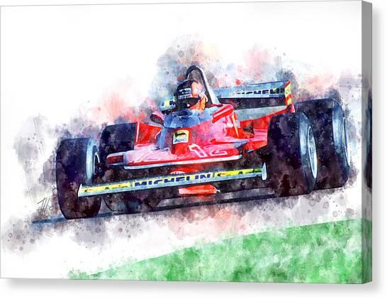 Cobra Canvas Print - Gilles Villeneuve Ferrari, No.12 by Theodor Decker