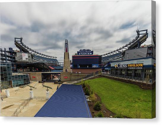 New England Revolution Canvas Print - Gillette Stadium by Brian MacLean