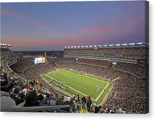 Tom Brady Canvas Print - Gillette Stadium In Foxboro  by Juergen Roth