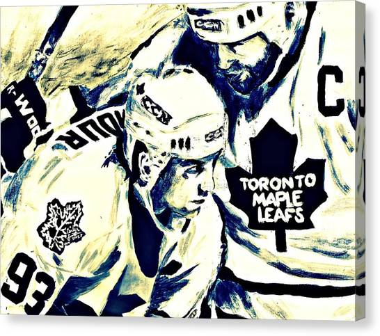 Toronto Maple Leafs Canvas Print - Gilmour And Clark by Carly Jaye Smith
