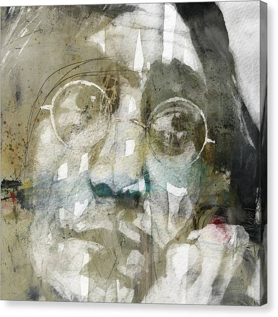Yoko Ono Canvas Print - Gimme Some Truth  by Paul Lovering