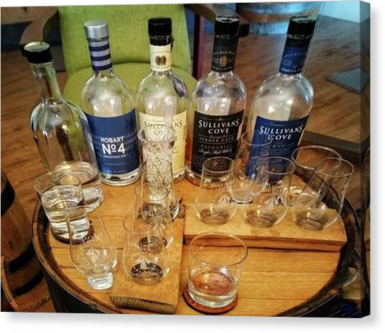Distillery Canvas Print - Gin And Whisky Tasting At Sullivans by Freddie Tay