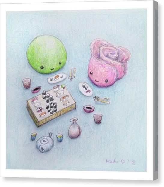 Canvas Print - Gari-san And Wasabi-san Enjoy A Lovely Dinner by Kato D