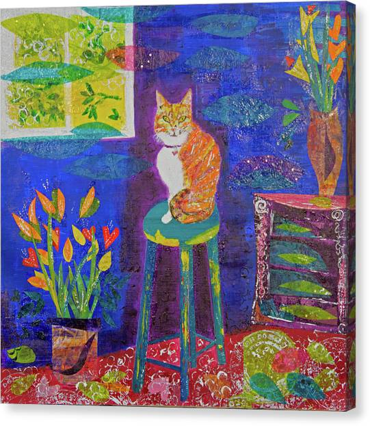 Ginger The Cat Canvas Print