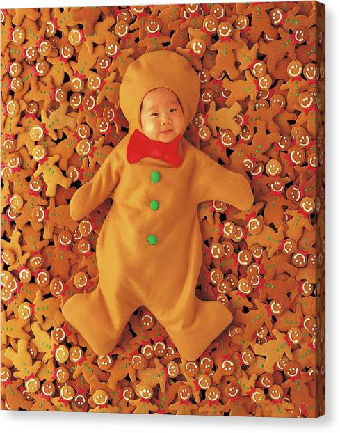 Holidays Canvas Print - Gingerbread Baby by Anne Geddes