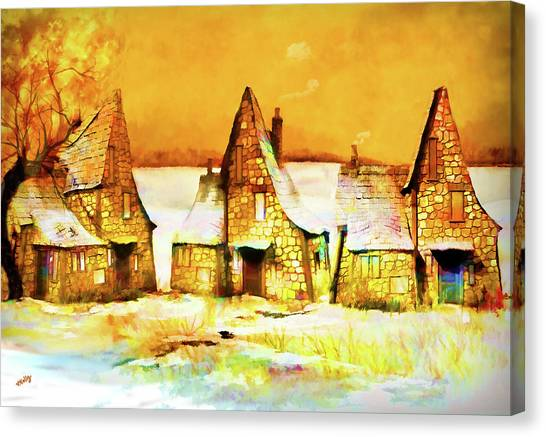 Gingerbread Cottages Canvas Print