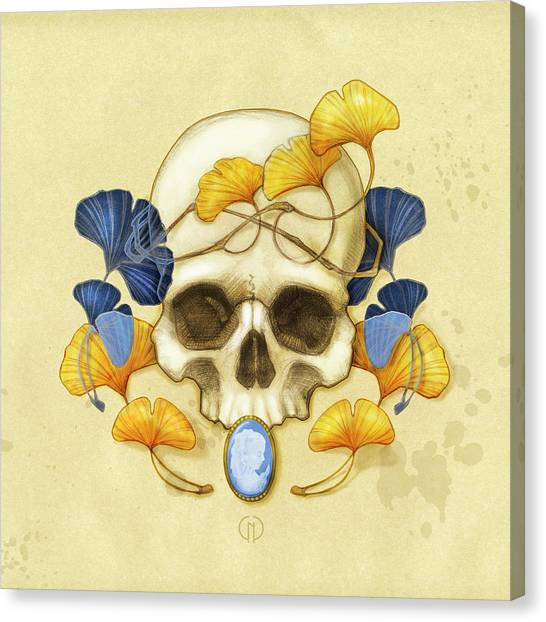 Skulls Canvas Print - Ginkgo Relic by Catherine Noel