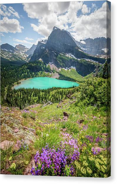 Ginnell Lake Overlook / Glacier National Park  Canvas Print