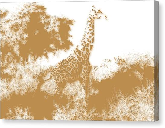 Mount Kilimanjaro Canvas Print - Giraffe 2 by Joe Hamilton