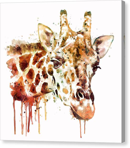 Giraffes Canvas Print - Giraffe Head by Marian Voicu