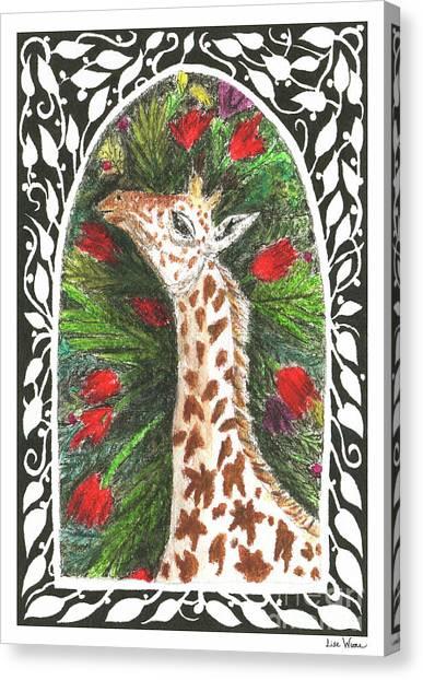 Giraffe In Archway Canvas Print