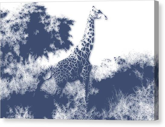 Mount Kilimanjaro Canvas Print - Giraffe by Joe Hamilton