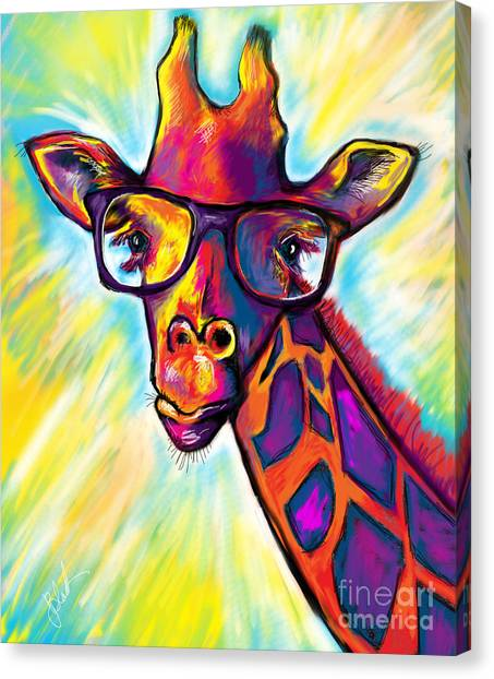 Giraffes Canvas Print - Giraffe by Julianne Black