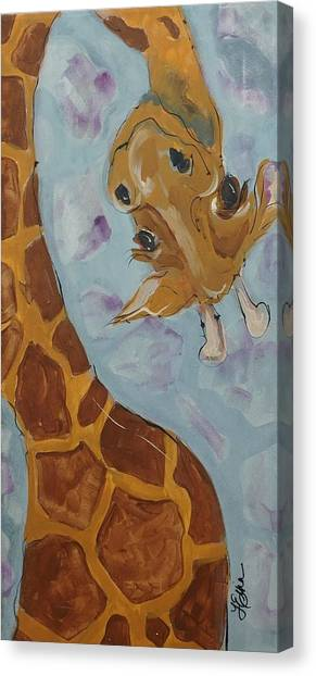 Giraffe Tall Canvas Print