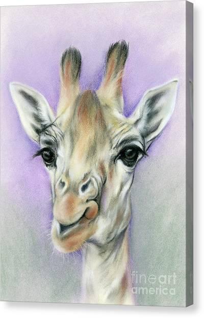 Giraffe With Beautiful Eyes Canvas Print