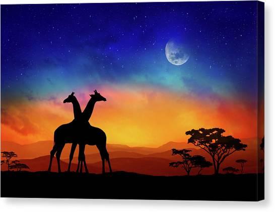 Giraffes Can Dance Canvas Print