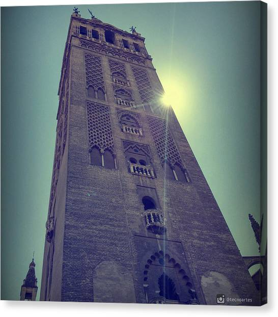 Flamenco Canvas Print - Giralda Tower. Seville. by Miguel Angel