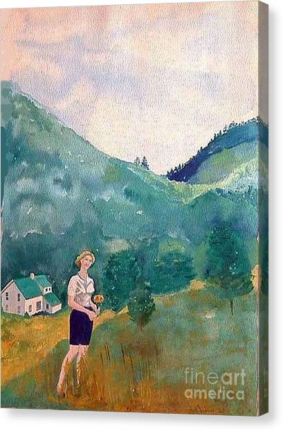 Girl At Murray Hollow Canvas Print by Fred Jinkins