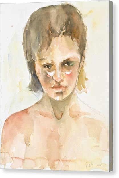 Girl Canvas Print by Eugenia Picado