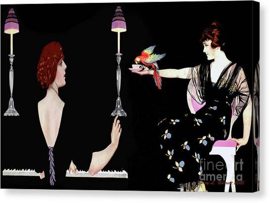 Girl Friends Canvas Print by Jerry L Barrett