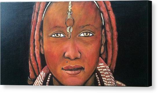 Girl From Africa Canvas Print