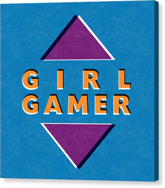 Minecraft Canvas Print - Girl Gamer by Linda Woods