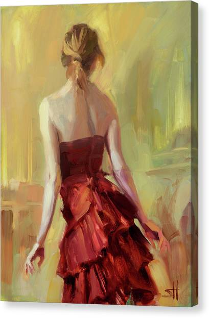 Vogue Canvas Print - Girl In A Copper Dress I by Steve Henderson