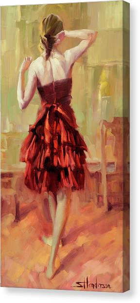 Vogue Canvas Print - Girl In A Copper Dress IIi by Steve Henderson