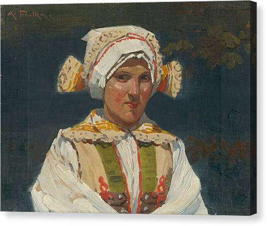 Girl In Costume, Antos Frolka, 1910 Canvas Print