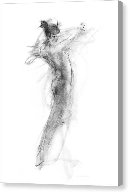 Abstract Art Canvas Print - Girl In Movement by Christopher Williams