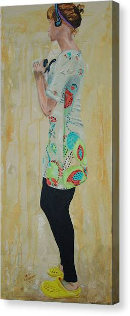 Girl In The Yellow Shoes Canvas Print by Kevin Callahan