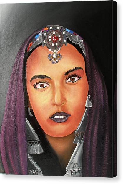 Girl Of Morocco Canvas Print by Portland Art Creations